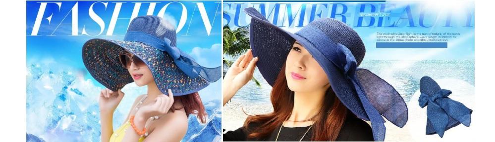 Mũ thời trang đi biển mùa hè vành rộng