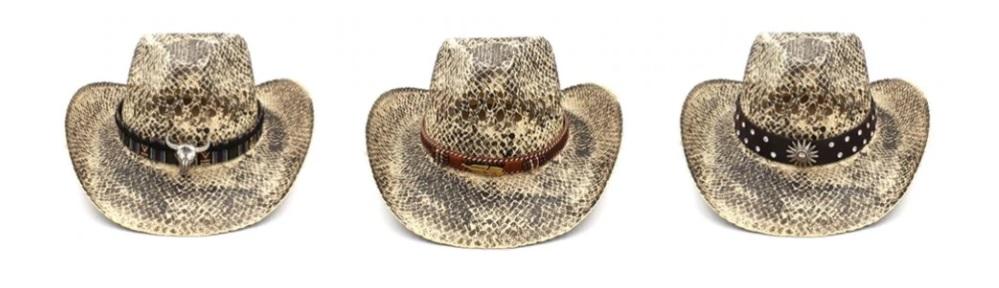Mũ cao bồi kiểu da rắn Cowboy Hat