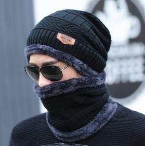 Bộ mũ len và khăn cổ ấm Nam SUOGRY