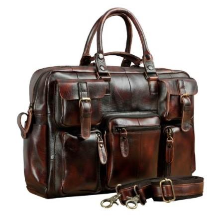Túi du lịch nam da thật kiểu cổ điển