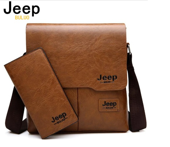 Bộ Túi JEEP BULUO và ví dài chất liệu da PU cao cấp