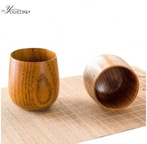 Cốc bằng gỗ táo tự nhiên kiểu Nhật Bản