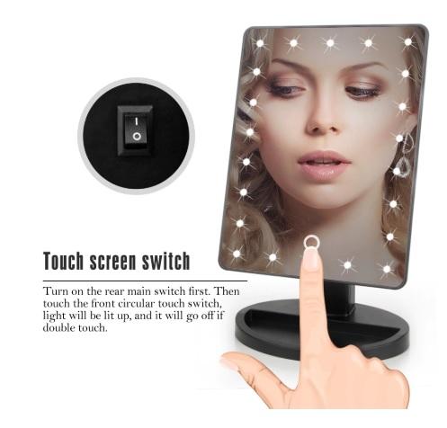 Gương trang điểm cảm ứng 22 đèn LED