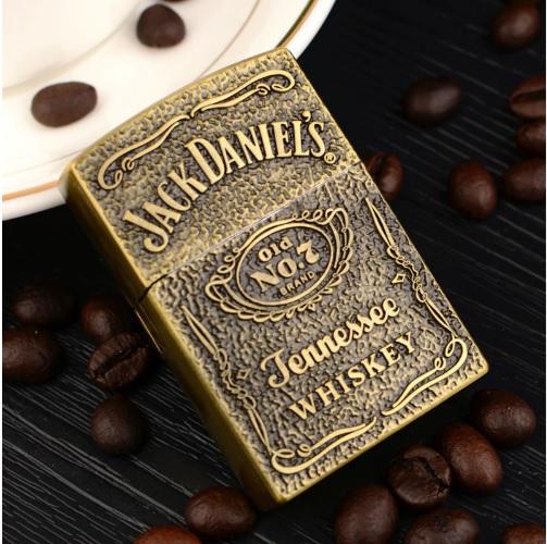 Bật lửa thời trang No.7 chữ nổi Jack Daniels