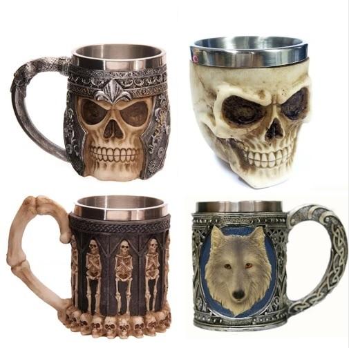Cốc tiệc Halloween 3D Creative Skull Mug