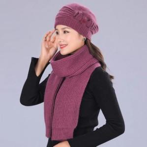 Bộ khăn mũ quàng cổ mùa đông Twinset