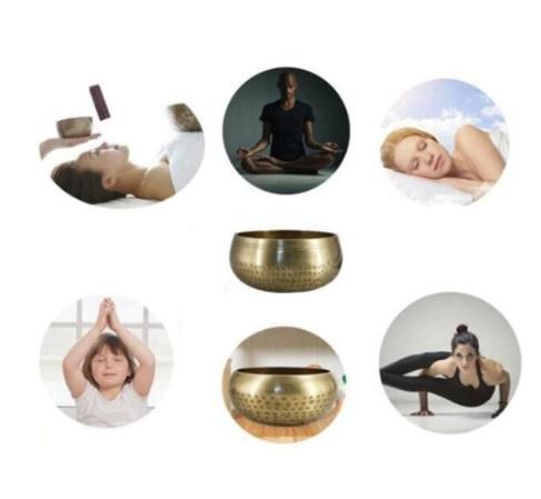 Bát chuông Yoga, phật giáo Ấn Độ - Size: 8*4.5cm