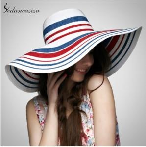 Mũ thời trang nữ mùa hè rộng vành Sedancasesa