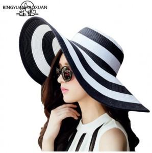 Mũ đi biển thời trang mùa hè kẻ sọc HQ