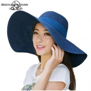 Mũ Lady đi biển mùa hè vành rộng kiểu Hàn Quốc