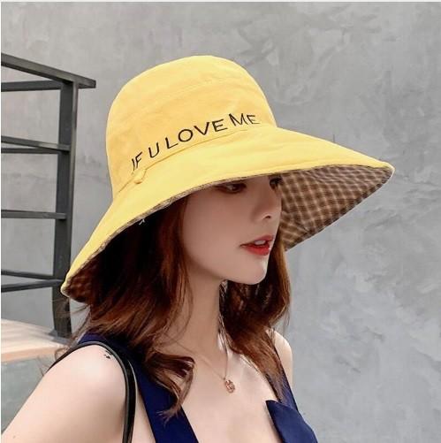 Mũ chống nắng thời trang chữ IF U LOVE ME