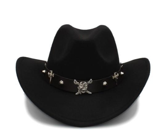 Mũ cao bồi thời trang Wool Hollow Western