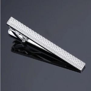Kẹp cà vạt thời trang men business khắc hoa văn DY-1