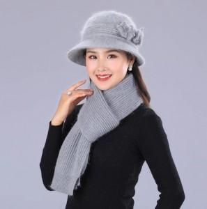 Bộ khăn mũ mùa đông phong cách thời trang