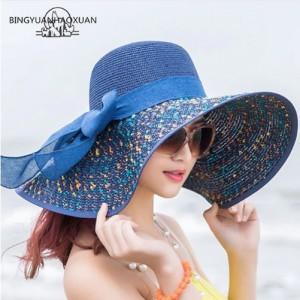 Mũ du lich biển mùa hè vành rộng kiểu Hàn Quốc